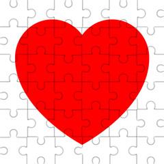 Icono puzzle de corazon