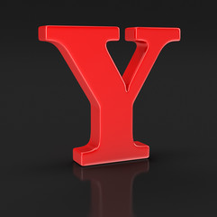 Letter Y (clipping path included)