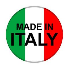 Icono texto MADE IN ITALY redondo