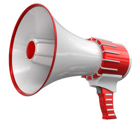 Megaphone. Image with clipping path