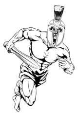 Spartan helmet warrior