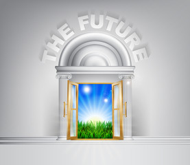 Door to the future concept