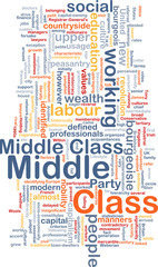 Middle class  background wordcloud concept illustration