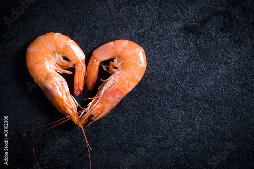 Heart shape shrimps