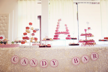 Candy bar for a wedding
