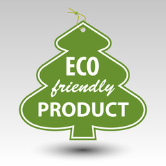 green eco friendly producttree tag