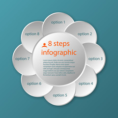 vector circular timeline infographic template 8 steps