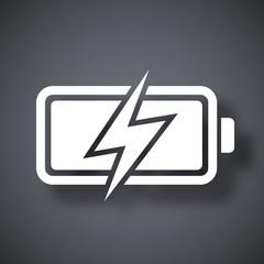 Vector battery icon, stock vector