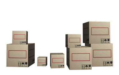 3D Cardboard boxes