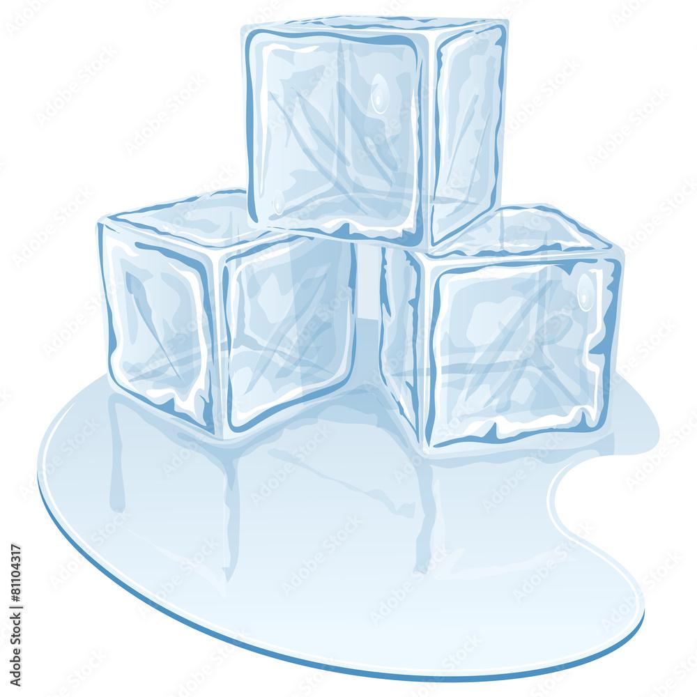 sześcian lód topnienie - powiększenie