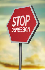 Creative sign with the message - Stop Depression