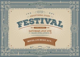 Vintage Fourth Of July Festival Background