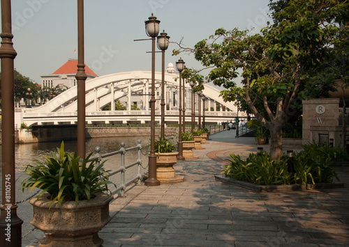 River walk in Singapore