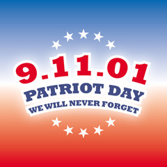 september 11 2001 - patriot day banner