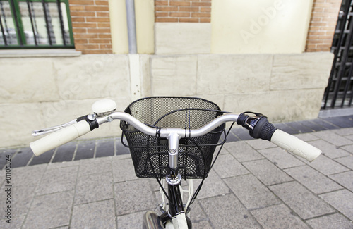 Fotobehang Fiets Bicycle handlebar