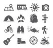 Camping icons - 81107747