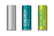 Vector illustration of energy drink cans - 81108101
