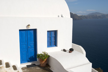 Typical houses to Santorini