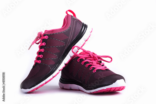 Fotobehang Gymnastiek Sport woman shoes