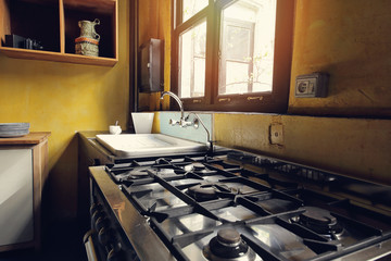 intérieur rustique cuisine vintage