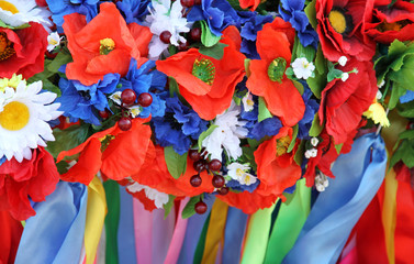 Ukrainian traditional flower wreaths.