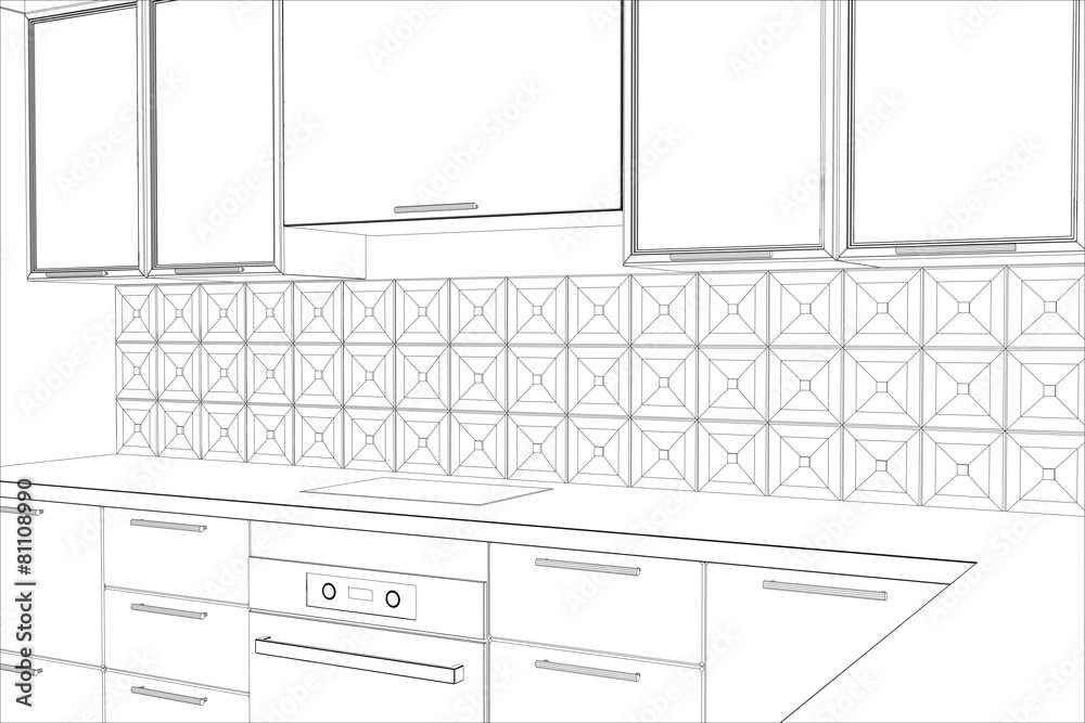 projektować szkic plan - powiększenie