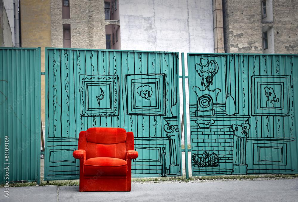 siedzieć żywy pokój - powiększenie