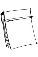 sketch paper tear-off calendar