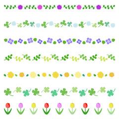 春の植物 ラインセット / vector eps10
