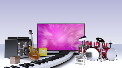 Smart TV,contents for music (included two alpha)
