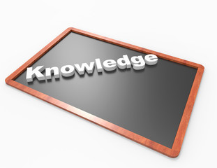 Knowledge word on blackboard concept