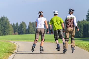 Ausflug mit den Inline-Skates
