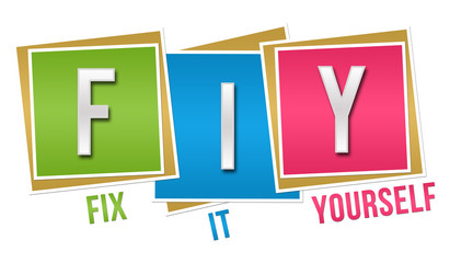 FIY - Fix It Yourself Colorful Blocks