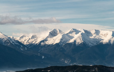 View of a Snow Capped Mountain Pirin Range