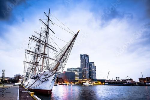polish ship docked in Gdynia