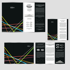 Set of design template with flyer, poster, brochure. For adverti