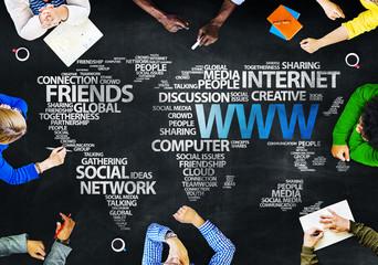 Group People Blackboard Internet Concept