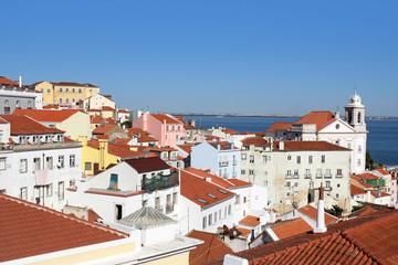 beautiful view of Alfama, Lisbon ,Portugal