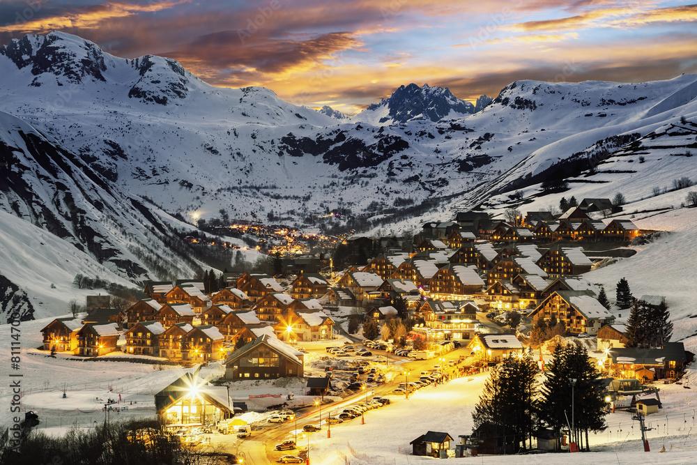 alpy zimą śnieg - powiększenie