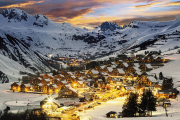 Ski resort in French Alps,Saint jean d'Arves