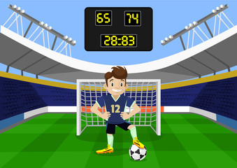 Vector football flat illustration