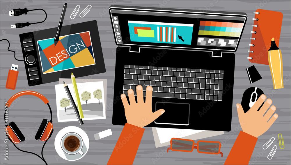 projektant twórca ilustrator - powiększenie