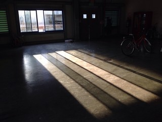 Sunshine ana shadow on the floor