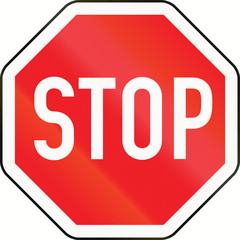 Stop Sign in Austria