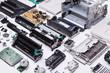 canvas print picture - Dissasembled printer