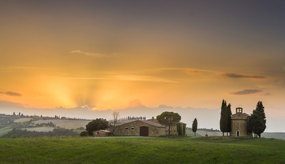 Famous sunset place in Tuscany