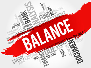 BALANCE word cloud, business concept