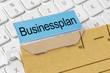 Akte mit der Beschriftung Businessplan