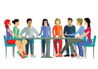 Mitarbeiter Diskussion