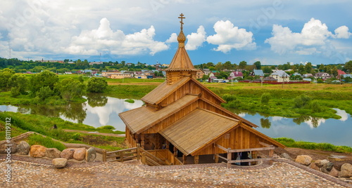 Russian landscape with  sacred source in Borovsk in  Kaluga - 81119312